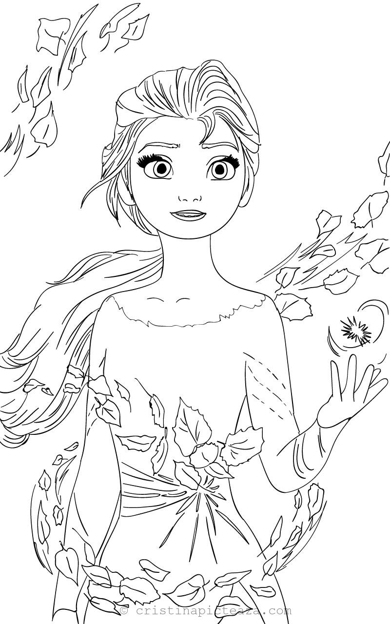elsa coloring from frozen cristina is painting ana cristinapicteaza suspend the spiders coloring pages Elsa Coloring Page