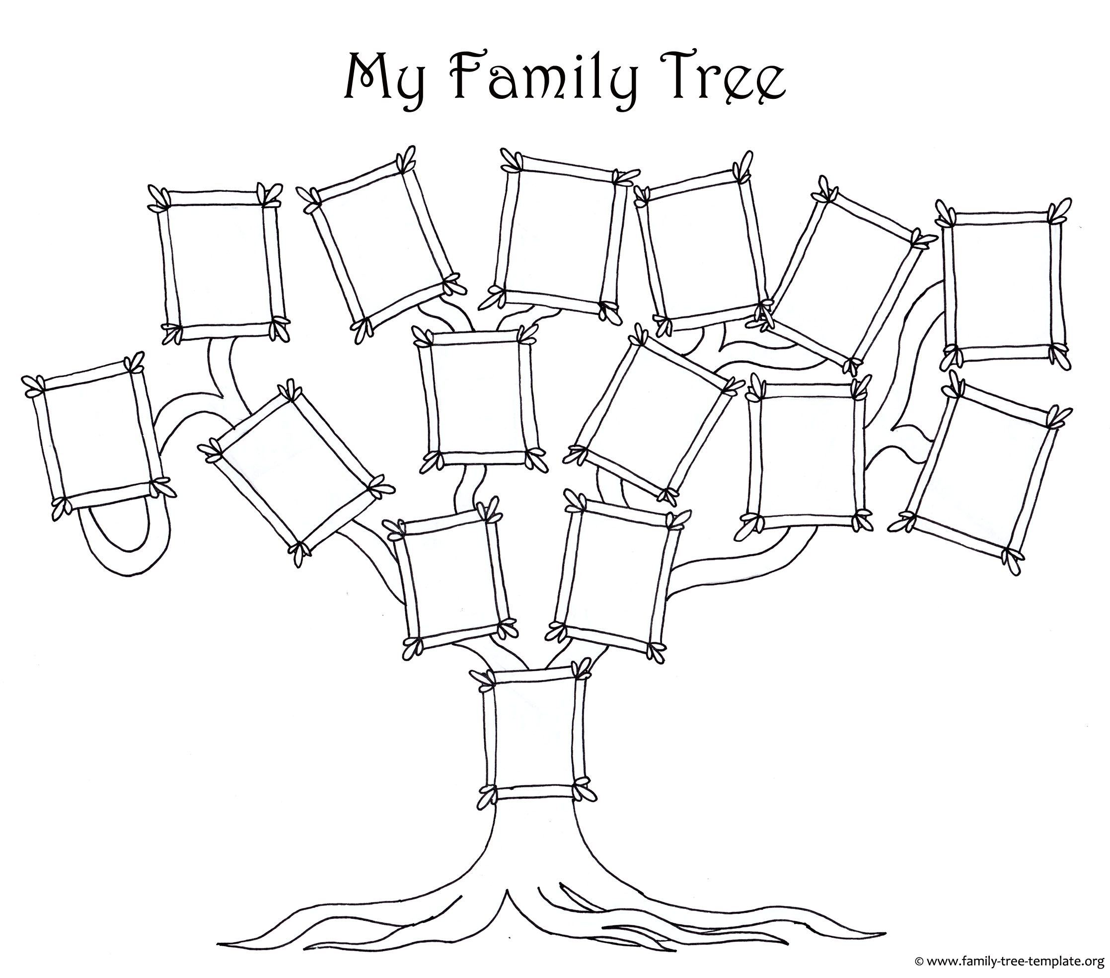 family tree template coloring free chart for flowers outline of pumpkin to color sheets coloring pages Family Tree Coloring Page