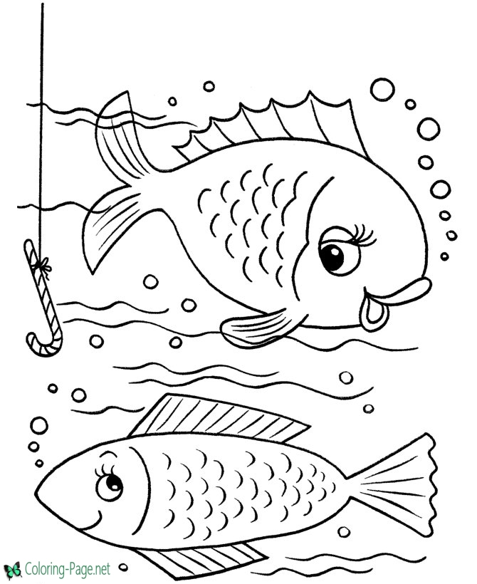 fish coloring fishes starry night kids drawing ceruleum tiger lent calendar printable coloring pages Coloring Page Fishes