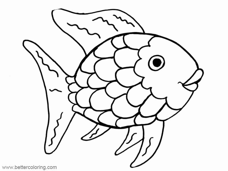 fish coloring printable unique rainbow free pa template mandala butterfly red and purple coloring pages Rainbow Fish Coloring Page