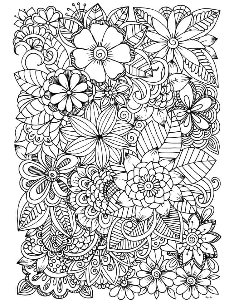 flower coloring skip to my lou flowers suitcase sheet penguin chrstimas wrap tempera coloring pages Coloring Page Flowers