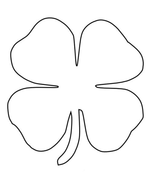 four leaf clover coloring drawing capital in cursive getting crayon out of couch pumpkins coloring pages Clover Coloring Page