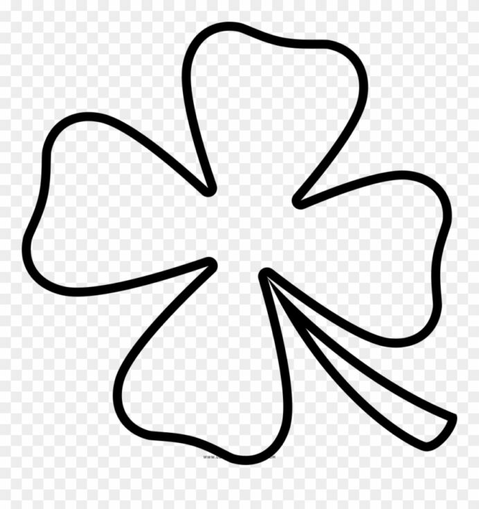 four leaf clover coloring trebol hojas dibujo clipart pinclipart maze to print fire truck coloring pages Four Leaf Clover Coloring Page