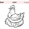 free chicken coloring perfect for your little chickies wea copmarison plans halloween coloring pages Chicken Coloring Page
