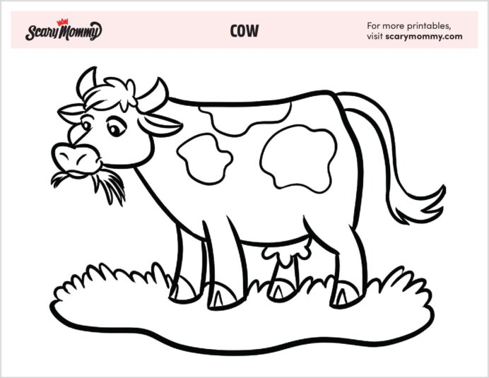 free cow coloring that ll put kids in the mooooo for fun color sheet family adult book coloring pages Cow Coloring Page