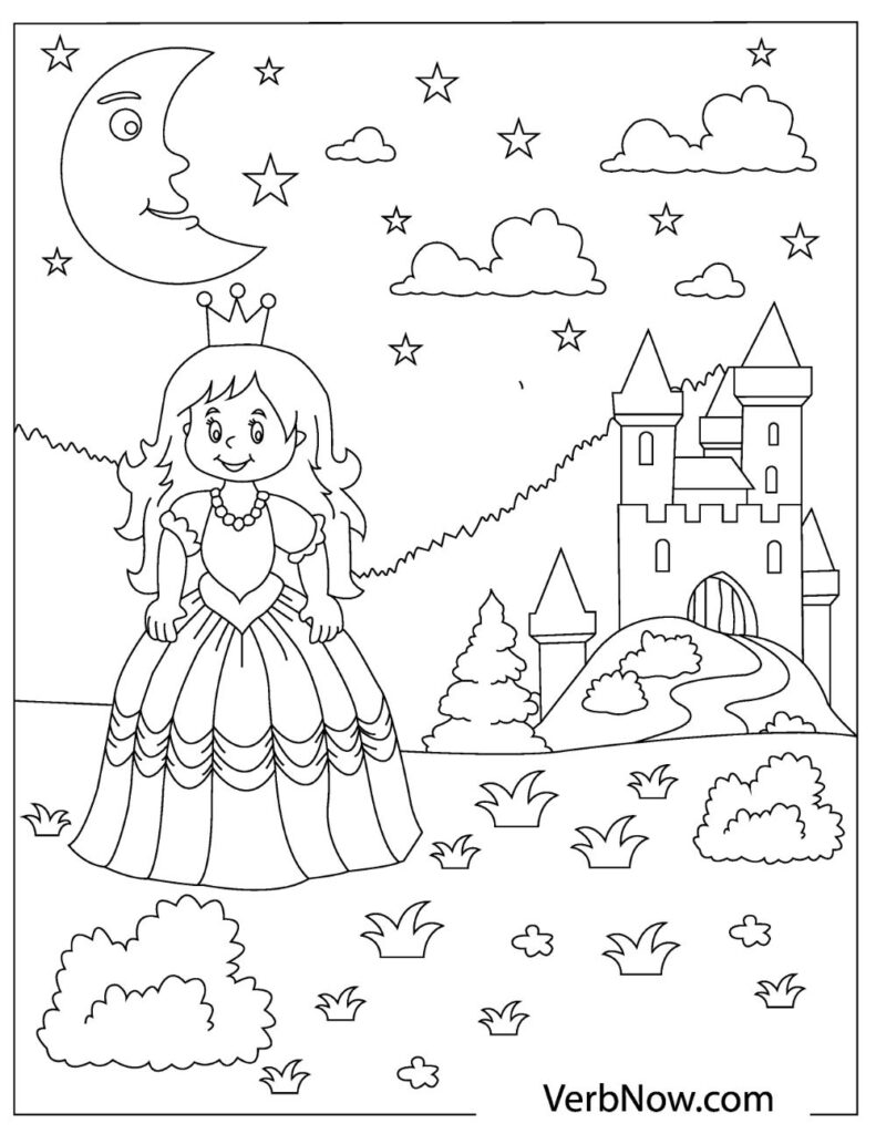 free princess coloring for pdf may21 791x1024 toddler books cursive letters uppercase coloring pages Princess Coloring Page