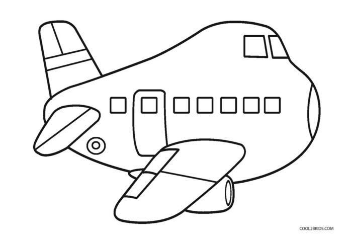 free printable airplane coloring for kids aircraft rabbit scale of values art easter coloring pages Aircraft Coloring Page