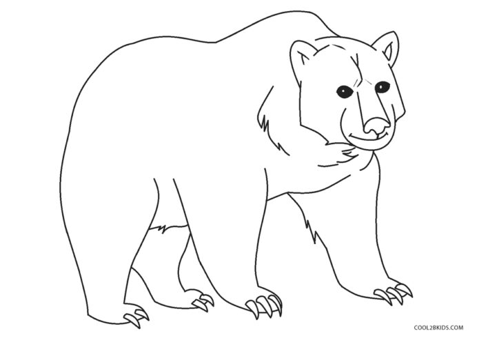 free printable bear coloring for kids spray art set top favorite colors funny black faces coloring pages Bear Coloring Page