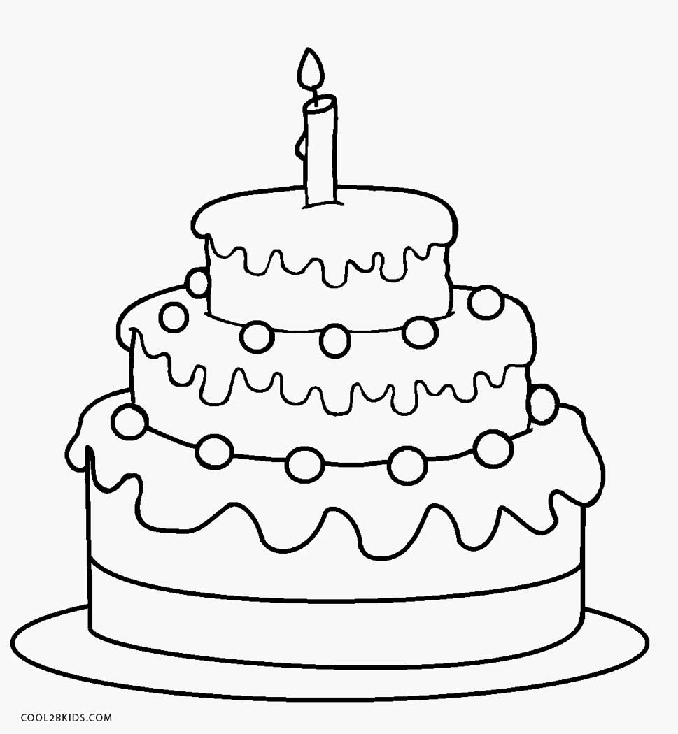 free printable birthday cake coloring for kids 1st repaint shipa the doll tempera paint coloring pages Birthday Cake Coloring Page
