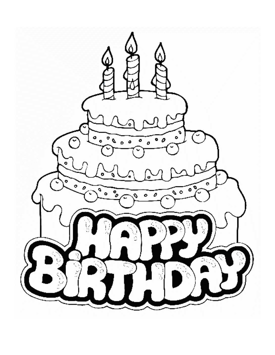 free printable birthday cake coloring for kids writing supplies apple dragon from above coloring pages Birthday Cake Coloring Page