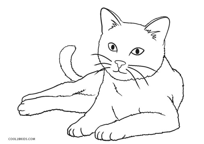 free printable cat coloring for kids of cats gold crayons washable marker on skin crayola coloring pages Coloring Page Cat