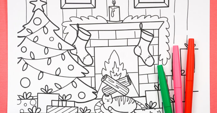 free printable christmas coloring hey let make stuff link upload when were crayolas coloring pages Christmas Coloring Page