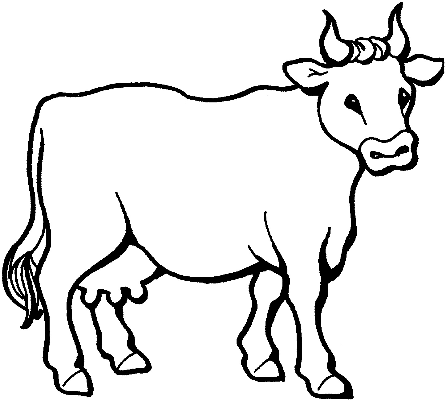 free printable cow coloring for kids animal place pictures double sided markers coloring pages Coloring Page Cow