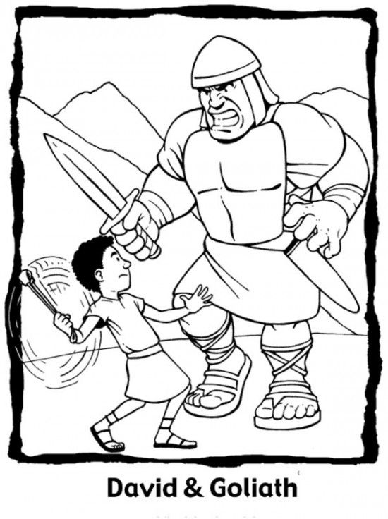 free printable david and goliath coloring all about for kid sunday school preschool coloring pages David And Goliath Coloring Page