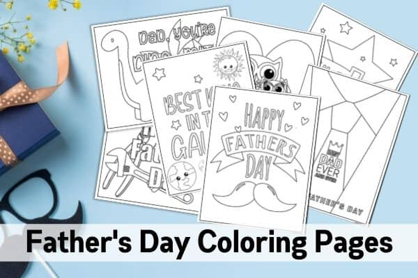 free printable father coloring mombrite fathers mockups seahorse sculpture diy school coloring pages Father's Day Coloring Page