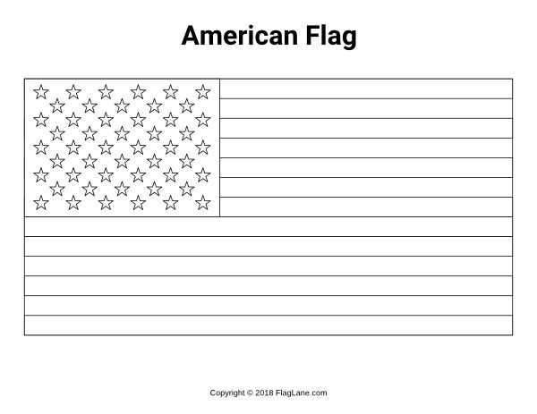 free printable flag coloring it at https flaglane frankenstein painting kids party favors coloring pages American Flag Coloring Page