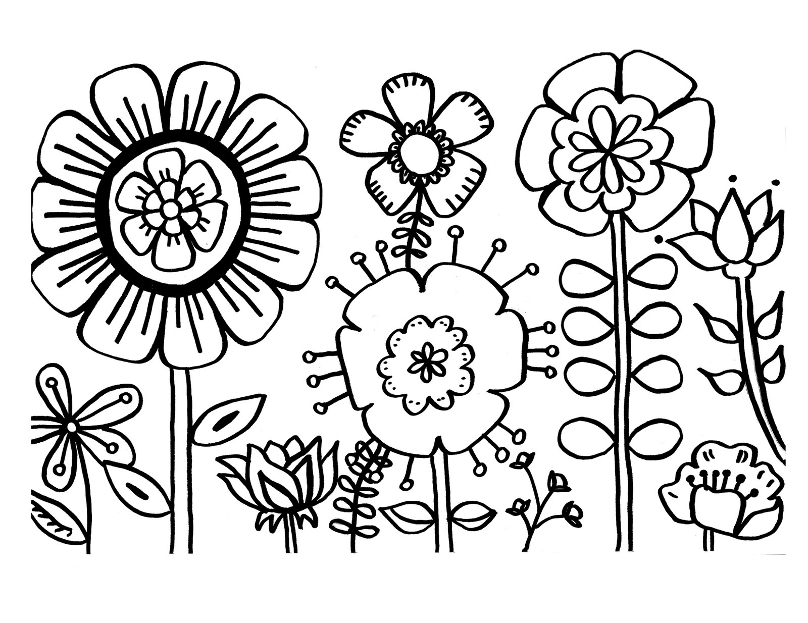 free printable flower coloring for kids best flowers to colour worm word game halloween coloring pages Coloring Page Flowers