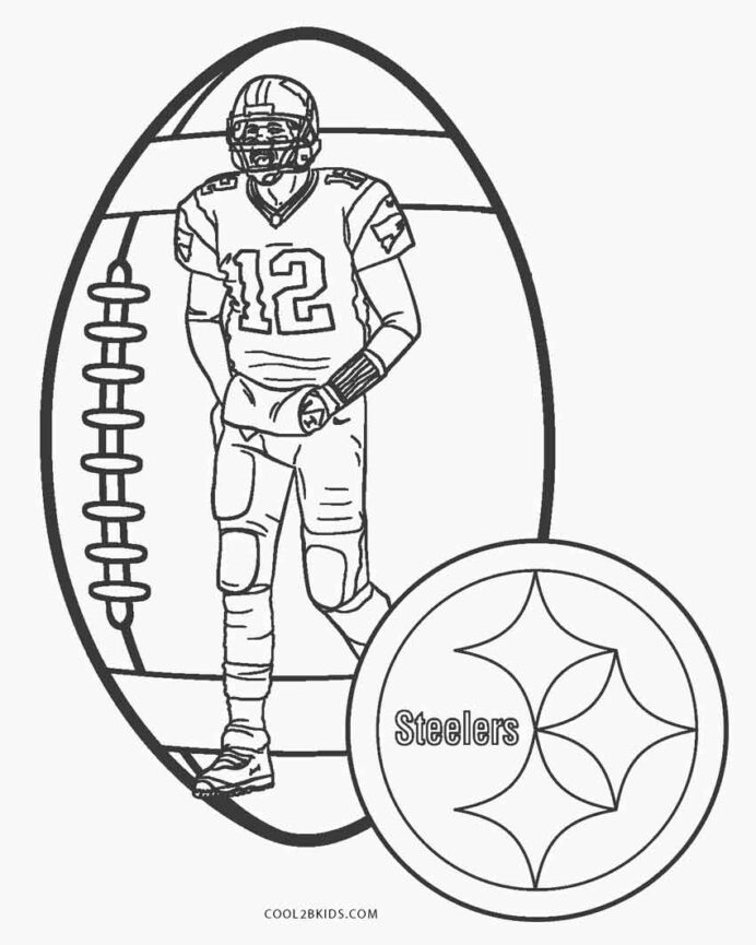 free printable football coloring for kids steeler steelers inside sinking paper boat blue coloring pages Steeler Coloring Page