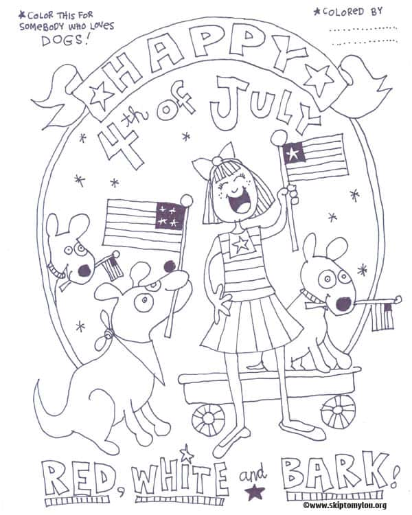 free printable fourth of july coloring skip to my lou 4th for dog lovers crayola pictures coloring pages 4th Of July Coloring Page