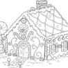 free printable gingerbread house coloring for kids scarecrow pilgrim pictures to color coloring pages Gingerbread Coloring Page