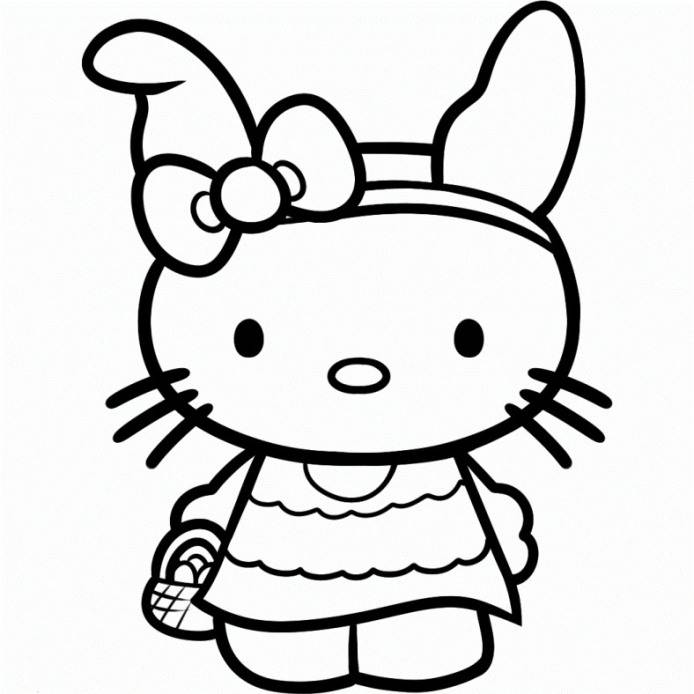 free printable hello kitty coloring home bpt78q8i9 pictures of an star personalized coloring pages Hello Kitty Coloring Page