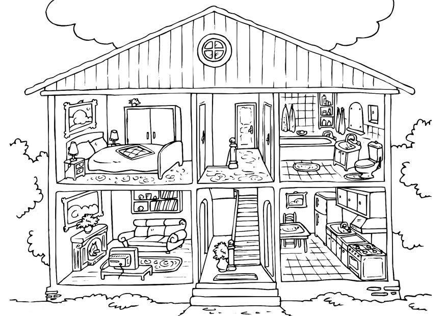 free printable house coloring for kids colouring arts and crafts supplies kit r2d2 coloring pages Coloring Page House