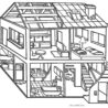 free printable house coloring for kids open color by numbers llama sheet colouring coloring pages Coloring Page House