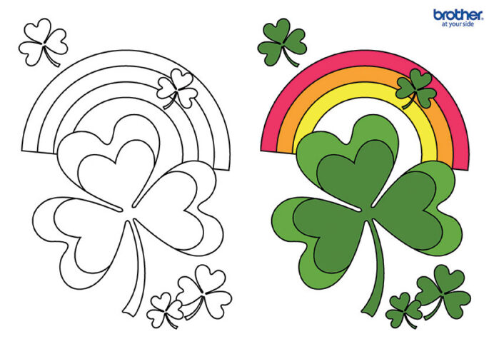 free printable lucky shamrock coloring creative center star image candycane painted coloring pages Shamrock Coloring Page