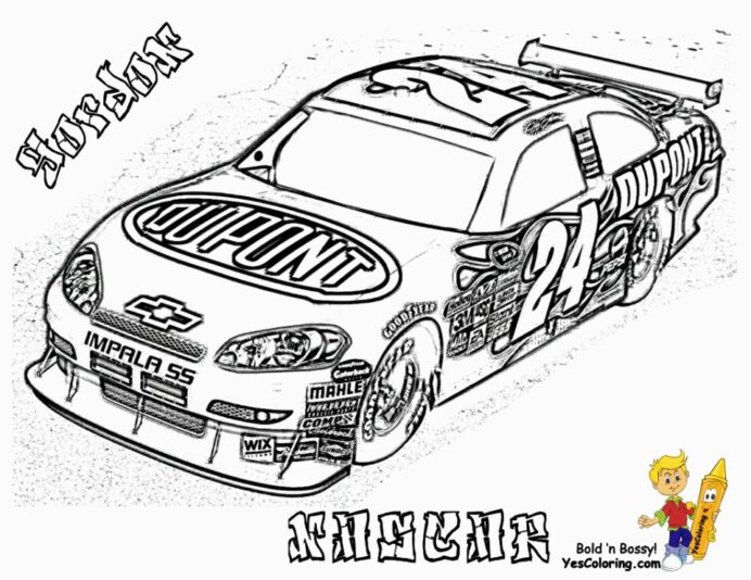 free printable nascar coloring everfreecoloring easter gifts for kids ship in bottle art coloring pages Nascar Coloring Page