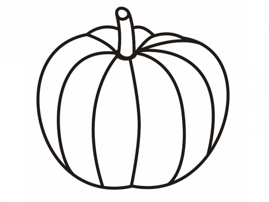 free printable pumpkin coloring for kids blank halloween mermaid to color earth my coloring pages Pumpkin Coloring Page