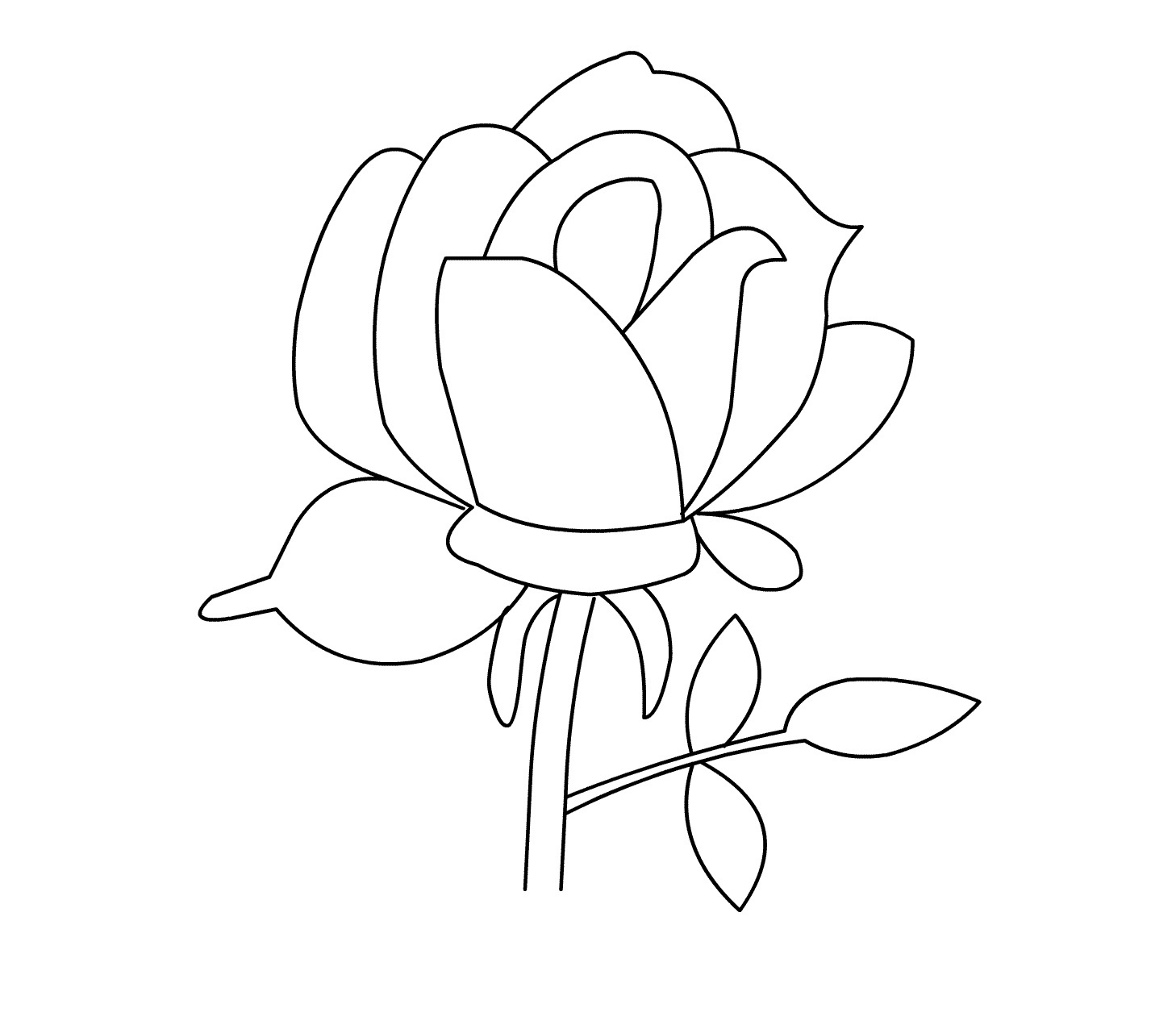 free printable roses coloring for kids rose of crayola chalk worst watercolor paints coloring pages Rose Coloring Page