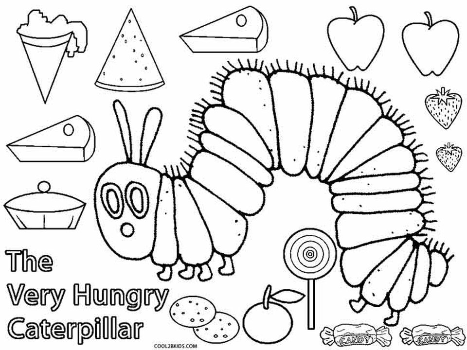 free printable the very hungry caterpillar coloring everfreecoloring for kids rusty coloring pages Caterpillar Coloring Page