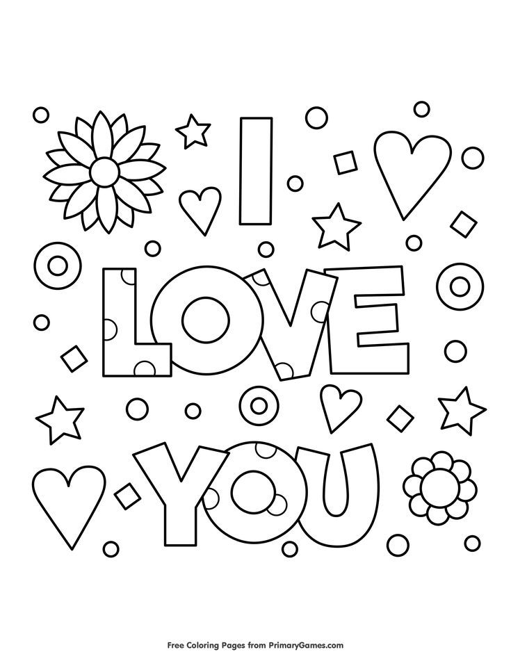 free printable valentine coloring for use in your classroom and click mo valentines star coloring pages Printable Valentines Coloring Page