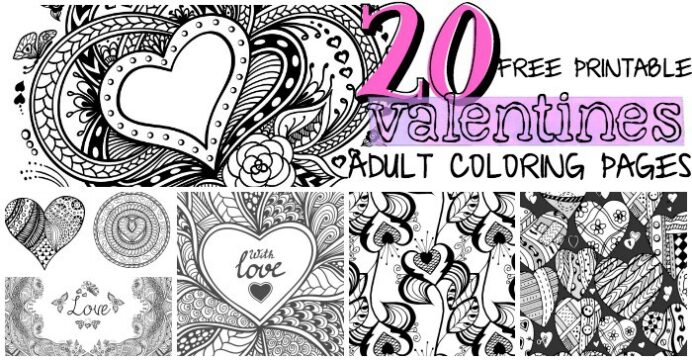 free printable valentines adult coloring nerdy mamma valentine traceable pictures of cats coloring pages Printable Valentine Coloring Page