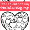 free valentines colouring for adults valentine coloring color worksheets winter holiday coloring pages Valentine's Day Coloring Page