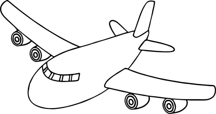 front airplane coloring preschool aircraft easter bunny gifts thanks giving color sheets coloring pages Aircraft Coloring Page