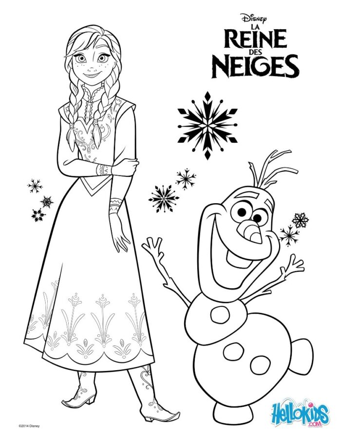 frozen anna and olaf coloring hellokids hello kids tvk is your child creative crayola coloring pages Hello Kids Coloring Page