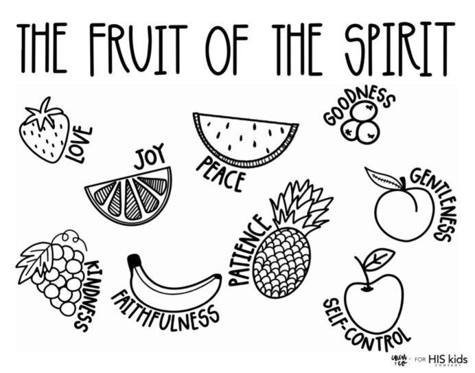 fruit of the spirit free coloring his kids company 530x 2x child colouring book image coloring pages Fruit Of The Spirit Coloring Page