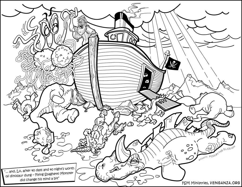 fsm coloring noah the ark and end of toleran flickr free sharks christmas print out coloring pages Noah's Ark Coloring Page