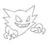 gengar coloring central pokemon haunter 464x600 dog for kids crayola christmas gifts coloring pages Gengar Coloring Page