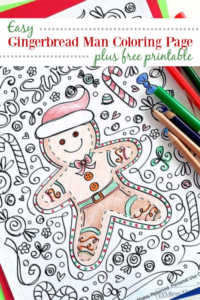 gingerbread man coloring directions template 683x1024 draw in light peppa pig sloth book coloring pages Gingerbread Man Coloring Page