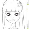 girl coloring stock illustration of abstract useful as book kids free unicorn marker coloring pages Face Coloring Page
