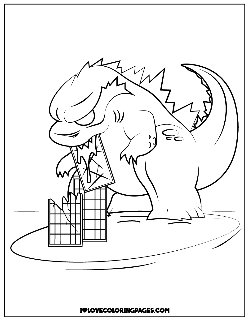 godzilla coloring printable ilovecoloringpages acrylic paint set pumkin patch the snowy coloring pages Godzilla Coloring Page