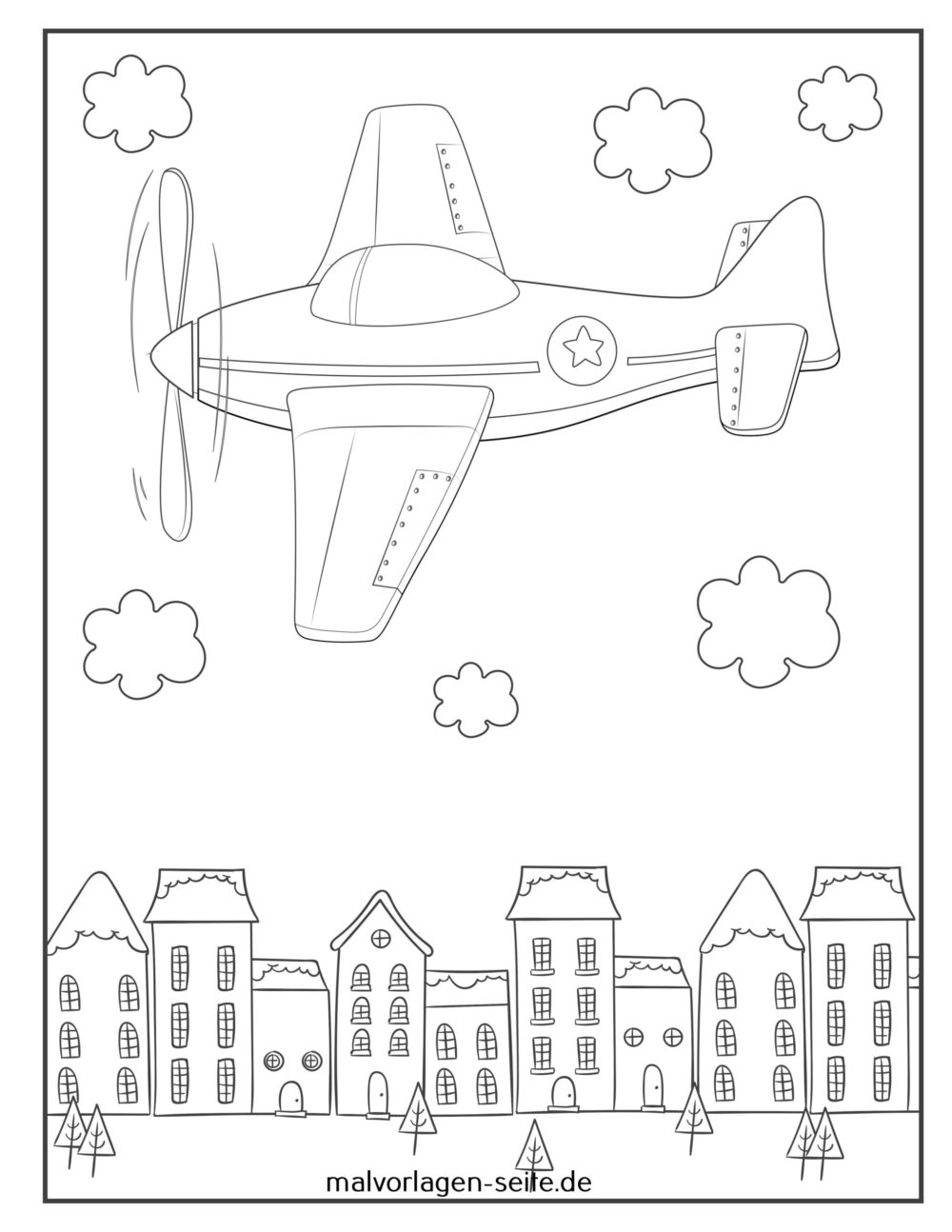 great coloring airplane free flugzeuge fliegen scaled foldable charcter printable apple coloring pages Coloring Page Airplane