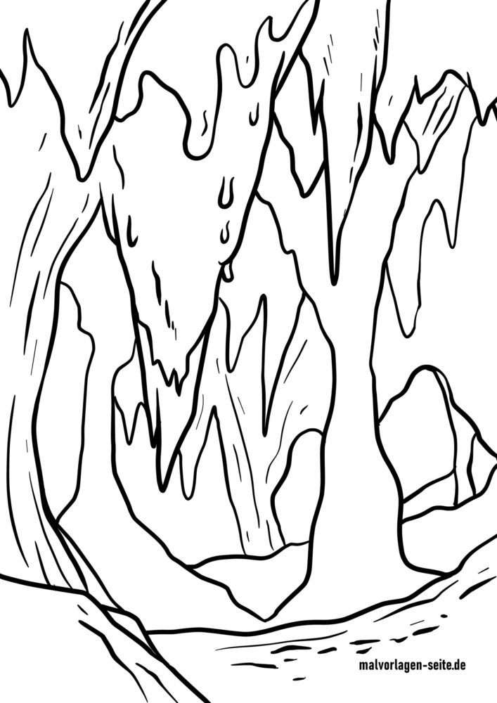 great coloring cave stalactite travel free tropfsteinhoehle scaled thanksgiving hseets coloring pages Cave Coloring Page