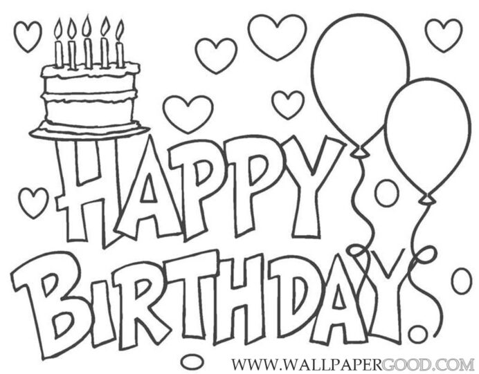 happy birthday daddy coloring free printable for therapy putty stain removal eater coloring pages Happy Birthday Coloring Page