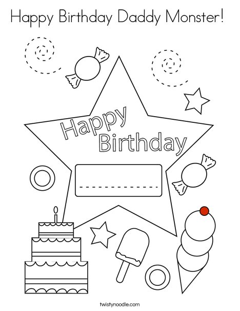 happy birthday daddy monster coloring twisty noodle 468x609 q85 supertips target outline coloring pages Happy Birthday Daddy Coloring Page