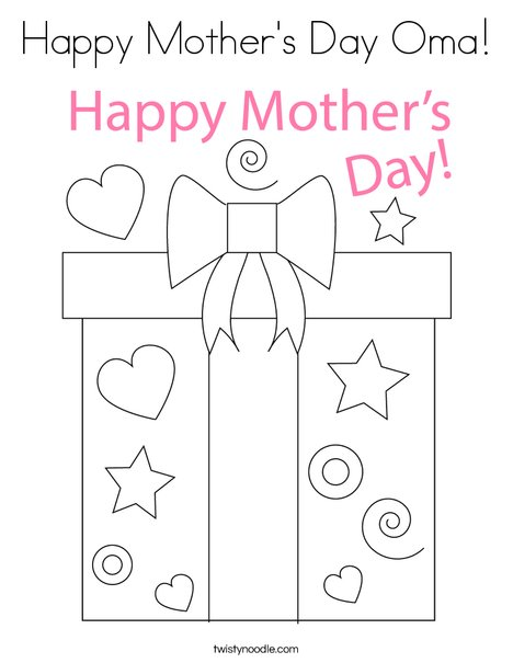 happy mother oma coloring twisty noodle mothers 468x609 q85 non toxic crayons july wreath coloring pages Mother's Day Coloring Page