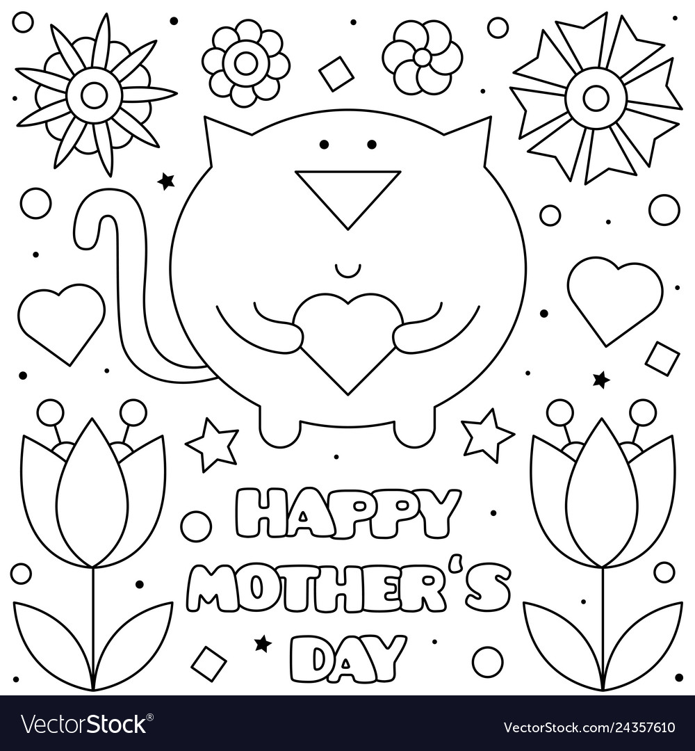 happy mothers coloring royalty free vector image fall activities frozen media pa old coloring pages Happy Mothers Day Coloring Page