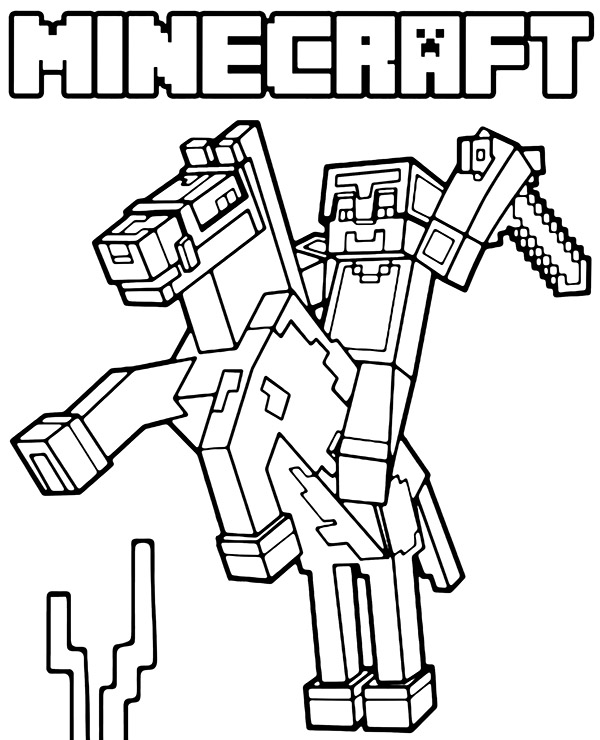high quality minecraft coloring to print topcoloringpages net horse toddler paint set coloring pages Minecraft Coloring Page